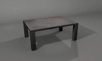 3d iron table model