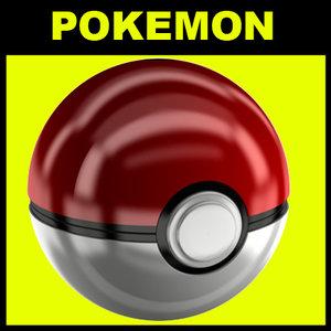 3d model pokemon ball