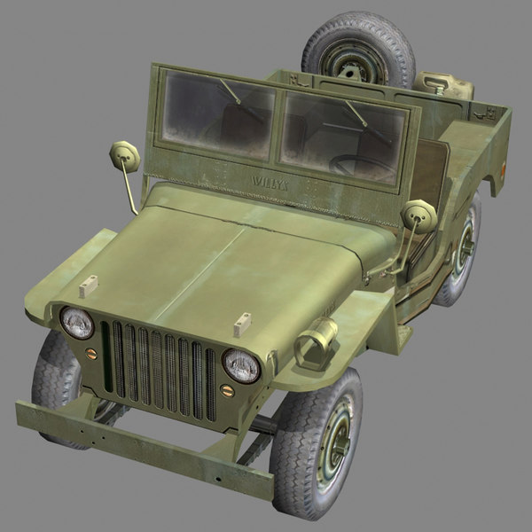 3d model suv willys jeep