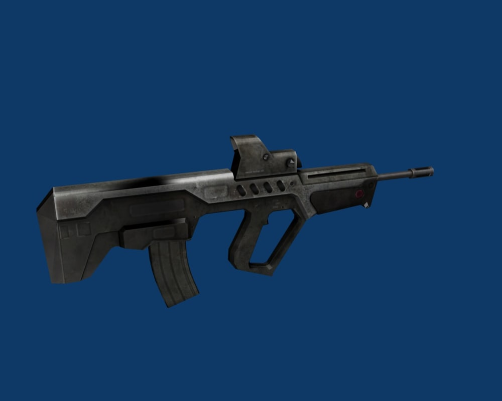 3d model of weapon