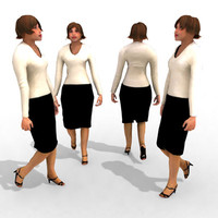 - business female 3d max