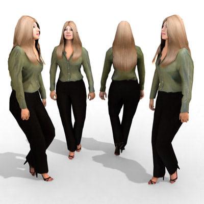 3d - business female model