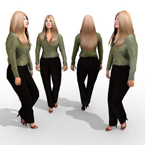3d - business female model