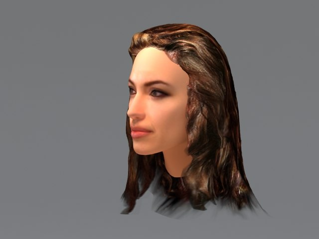 angelina jolie hair 3d model