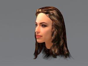 angelina jolie hair 3d model