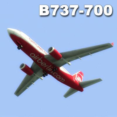 bowing 737-700 3d model