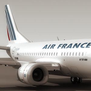 737-500 air france 3d 3ds