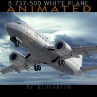 737-500 plane 3d model