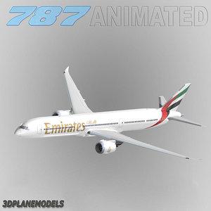 3d b787-10 emirates 787-10