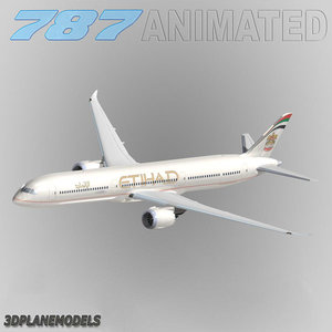 b787-10 etihad airways 787-10 3d model