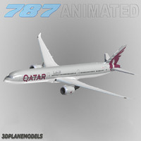 3d b787-10 qatar airways 787-10