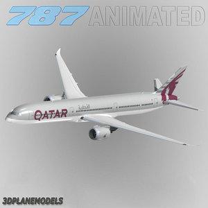 3d b787-10 qatar airways 787-10