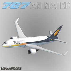3d b787-3 jet airways model
