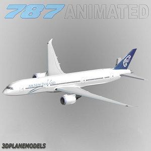 3d b787-9 air new zealand model