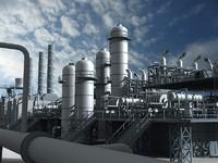 mega refinery 3d model