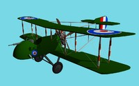ww1 fighter 3d model