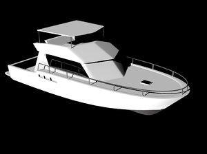 blue yacht 3ds