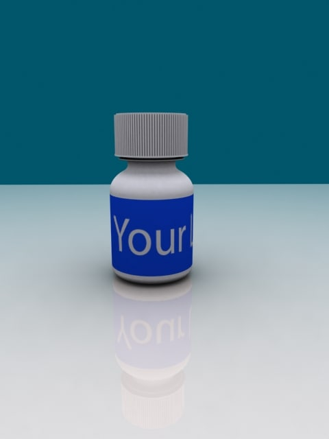 3d excedrin pill bottle model