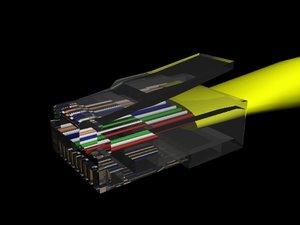 cat 5 cable 3d model