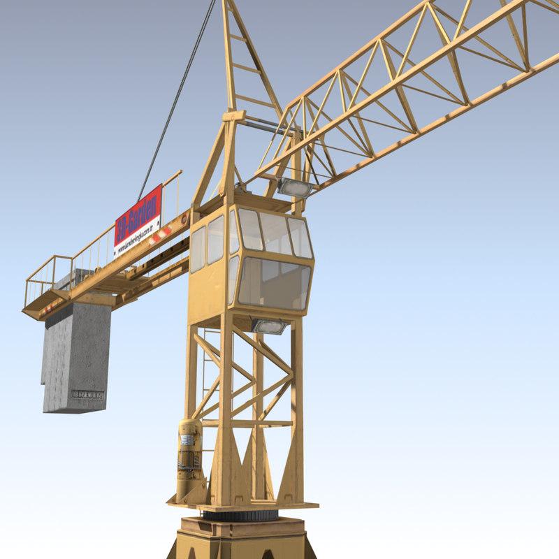 tower crane 02 3d model