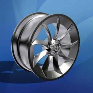 chrome rim wheel car 3d max