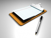 Clip Board & Pen