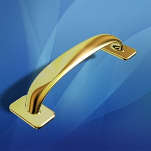 3ds gold plated drawer pull