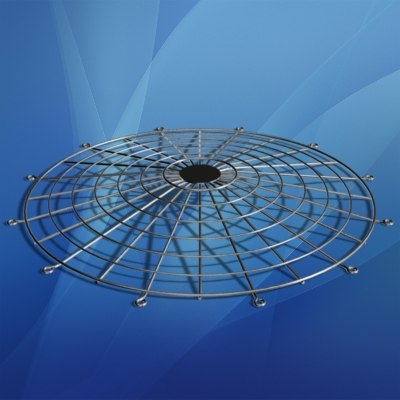 chrome fan guard 3d model