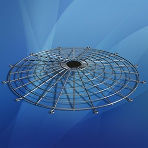 chrome fan guard 3d model