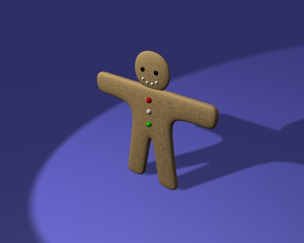 free blend model ginger bread man
