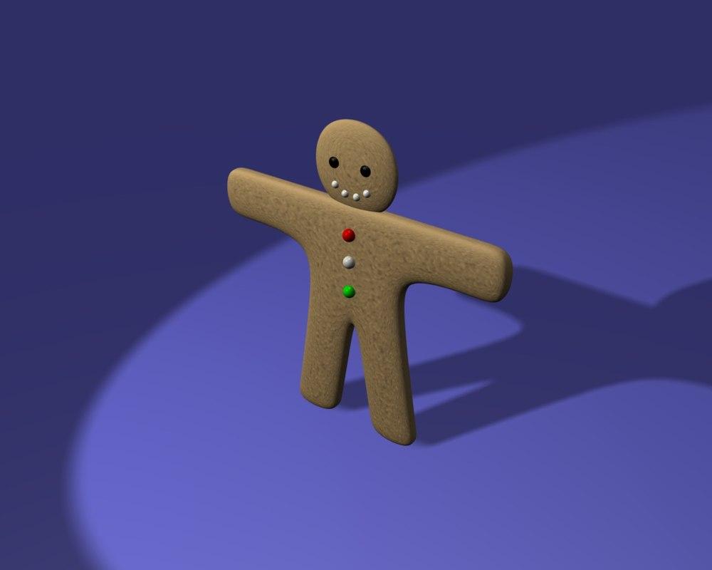 free blend model ginger bread man
