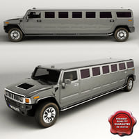 3d hummer h2 limo