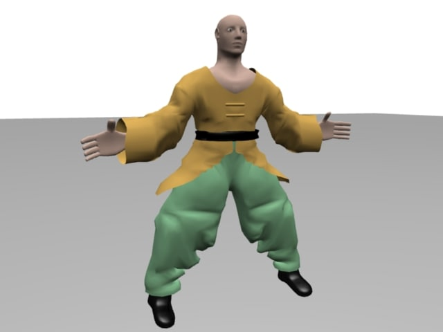 martial artist 3d model