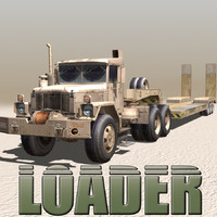 3ds military truck-low loader trucks