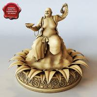3d buddha statuette model
