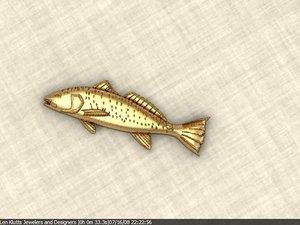 redfish 3d model