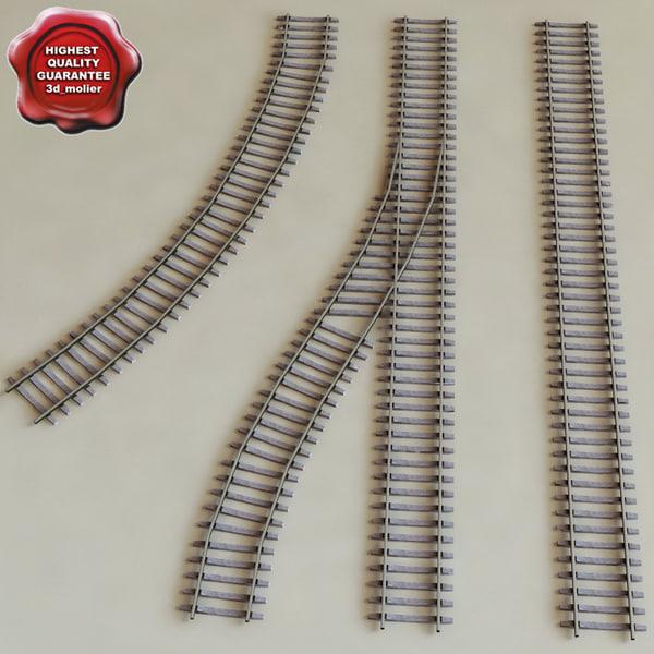 railroads modelled 3d model