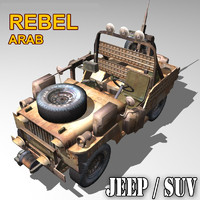 rebel suv jeep willys 3d model