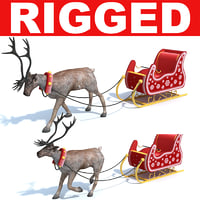 Reindeer with Sleigh