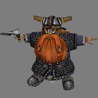 3dsmax fantasy warrior - dwarf