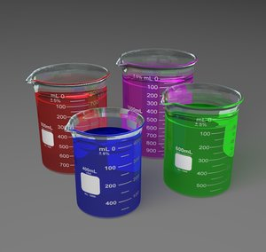 lwo lab beakers 400ml 600ml