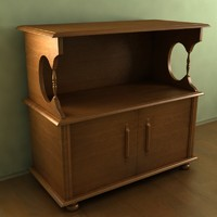 old television table 3d max