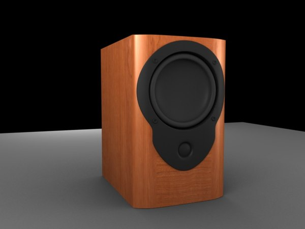 obj speaker wooden mission