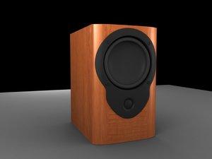 obj speaker wooden mission
