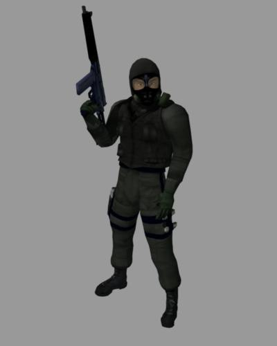 male black swat s