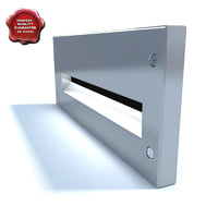 3d model wall luminaire