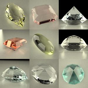3ds max gem stones cuts