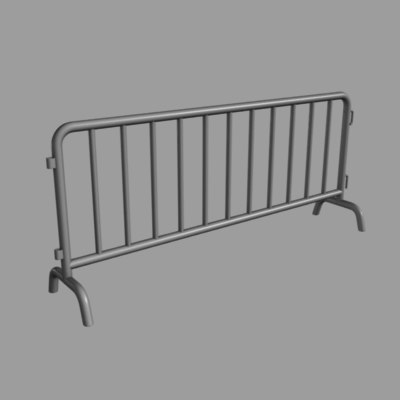 3d model crowd barricade