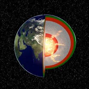 earth core 3d model