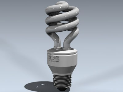 3ds max compact fluorescent lamp